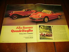 1986 ALFA ROMEO QUADRIFOGLIO ***ORIGINAL ARTICLE / SPECIFICATIONS***