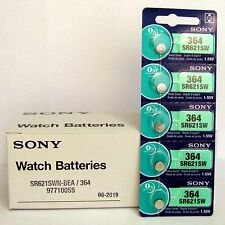 5 NEW SONY 364 SR621SW SR621 V364 LR621 SR60 Watch Battery EXP 06-2019 - FRESH