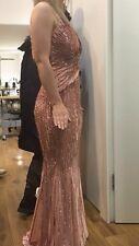 Asos Sequin Maxi Fishtail Dress Size 10