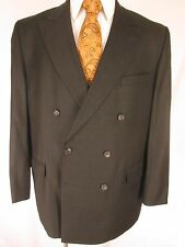 Coppley x Loro Piana Mens Olive Double Breasted 6x2 S120's Suit 46R