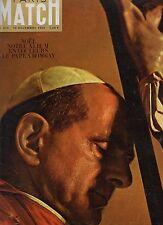 paris match n°819 le pape a bombay 1964