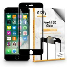 iPhone 7 Plus (5.5'') Pro-Fit 3D Glass Screen Protector By Orzly - Black