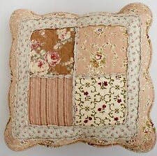 Shabby Chic Throw Cushion / Pillow Cover 45x45cm Matching Bedspread Set Listed
