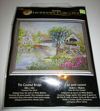 """""""The Covered Bridge"""" Counted Cross Stitch #45667 Bucilla Heirloom Collection"""