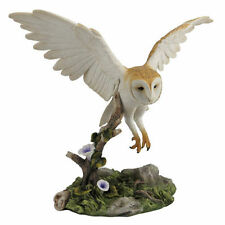 "10.5"" Barn Owl Flying Over Branch Home Decor Figure Sculpture Statue Animal Bird"