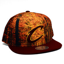 NBA Mitchell and Ness Forest Camo Snapback Hat (OSFM, Cleveland Cavaliers)