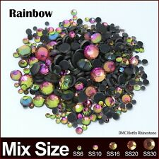 Rainbow Crystal stones Mix size SS6 SS10 SS16 SS20 SS30 2060pcs/lot Hotfix rhine