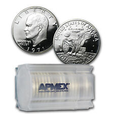1971-S 40% Silver Eisenhower Dollars 20-Coin Roll Proof - SKU #46504