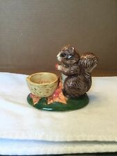 Vintage Standing Squirrel Candle Holder Figurine