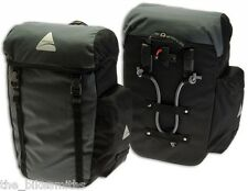 AXIOM SEYMOUR DLX 20 Bike Panniers Pair Rear Commuter Bags Touring Saddlebag