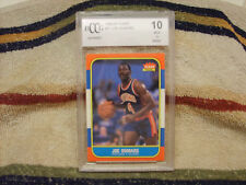 Joe Dumars GRADED ROOKIE!!! Beckett BCCG Mint 10!!! 1986/87 Fleer #27 Pistons!