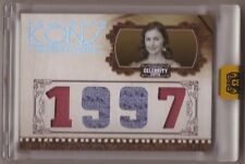 2008 Celebrity Cuts 1997 Ashley Judd costume material quad swatch relic card 1/1