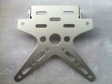 Silver License Plate Mount Bracket Holder Scooter Motorcycle Street Bike Custom