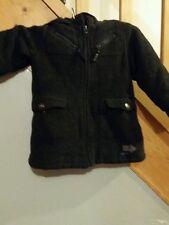 MAGNIFIQUE manteau style duffle coat ( avec capuche )T 3 ans coul gris fonce TBE