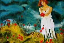 GIRL WITH FLOWER   Figure  expressionism  one of 20 on scotthammondart.com