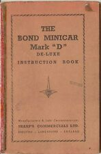 Bond Minicar Mark D De Luxe Original Owners Handbook