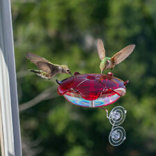 Ruby Sipper Window Hummingbird Feeder Red RS-3WC American Made in USA