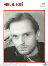 MIGUEL BOSÉ ACTEUR ACTOR FICHE CINEMA ESPAGNE SPAIN  90s