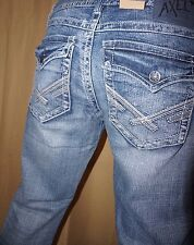 NEW TAGS Men's Axel Vintage Boot Denim Buckle Distressed Jeans 36x34