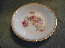 SEVRES HAND PAINTED WITH PINK ROSES AND GOLD TRIM -- BOWL