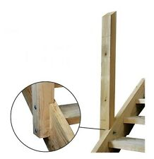 Left Hand  Handrail Post 90 x 90 x 1200mm Pine Timber Stair Support Ezi Step