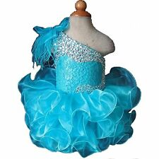 Toddler Tutu Infant Girls Kid Pageant Dress Cupcake Dance Birthday Party Gowns