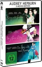 DVD AUDREY HEPBURN 3-Movie-Edition (3 DVDs) Gregory Peck, Henry Fonda ++NEU