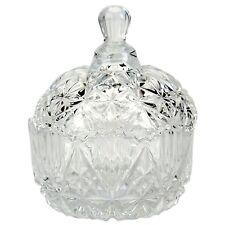 Kristallschale mit Deckel Bonbonglas Zuckerdose Glas Bonboniere