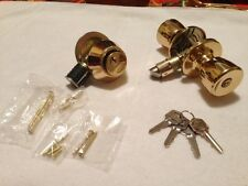 Mobile / Modular Brass Home Entry Door Lock Combination Set (lock & Dead Bolt)