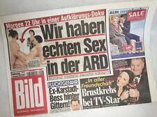 Bildzeitung vom 15.11.2014 * Geschenk zur Geburt * Sex in der ARD * Taufe