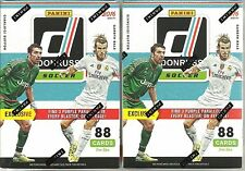 (2) 2016 Donruss Soccer Trading Cards New Sealed 88ct. Retail Blaster Box LOT