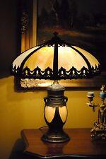 Arts&Crafts,Nouveau,B&H,Miller,Handel Era Lighthouse Leaded Slag Glass Lamp