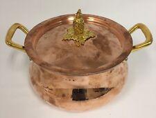 Williams-Sonoma Ruffoni Historia Copper Stock Pot w/ Pineapple Knob 3 1/2 Quart