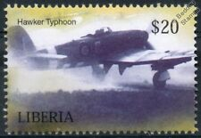 RAF HAWKER TYPHOON D-Day Livery Aircraft Stamp (Liberia)