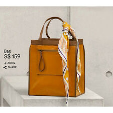 MARNI FOR H&M ORANGE-TAN PATENT LEATHER TOTE BAG