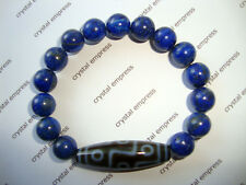 FENG SHUI - 9 EYE DZI WITH 10MM LAPIS LAZULI