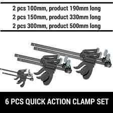 6PCS QUICK-GRIP ONE HANDED BAR CLAMP F CLAMP HAND TRIGGER ACTION CLAMP 6PCS SET