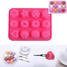 12 In 1 Silicone Chocolate Cookie Muffin Cake Ice Jelly Soap Baking Mold Mould N