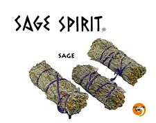 "SMUDGE STICK DESERT SAGE  4"" Natural Cotton Bind Cleansing  Made by SAGE SPIRIT"