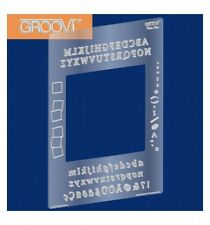 CLARITY STAMPS Groovi PLATE MATE ALPHABET for A5 SQUARE GRO-MA-40002-07