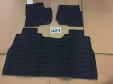 2015 2016 Ford F-150 Crew Cab 3 Piece Molded Tray Floor Mat Set new OEM