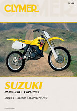 Clymer Repair Service Shop Manual Vintage Suzuki RM80 RM125 RM250 RMX250 89-95