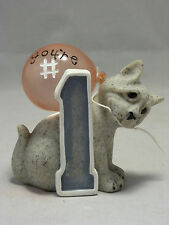 2005 SECOND NATURE DESIGNS QUARRY CRITTERS YOU'RE #1 STONE CAT FIGURINE #46014