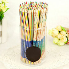 Hot Sale 10pcs/Lot Rainbow Color Pencil 4 in 1 Colored Drawing Painting Pencils