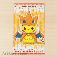 Pokemon Center Poncho Pikachu Series #1 Business Card Mega Charizard Y Ver.
