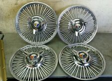 "1964 Ford Galaxie 500XL 14"" Chrome Wire Spoked Hub caps Wheel Covers ( 4 )"