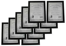 """10 x Wholesale Lot of 8.5x11"""" Black Wood Certificate Diploma Frame,Thick Border"""