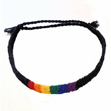 Gay Pride Bracelet Friendship Bracelet Black Thin