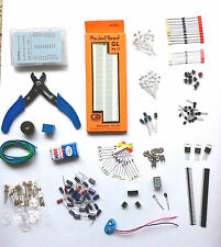 Bread Board kit with Resistor,caps,Diode,LED,Transistor,Buzzer, Battery