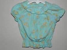 Janie and Jack Baby Infant Girl 3-6 Months Daisy Blue Shirt Spring Celebration